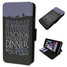 Funny The Hobbit Diet - Flip Phone Case Wallet Cover Fits Iphone 5 6 7 8 X 11
