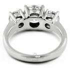 1ct E SI1 Round Natural Certified Diamonds 18kw Gold Classic Three-Stone Ring