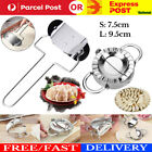 Pastry Tool Stainless Steel Dumpling Maker Mould Kitchen + Flour Ring Cutter Set