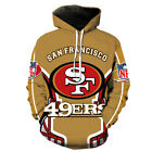 San Francisco 49ers Sweatshirts Hoodie Pullover Time Sweater Football Fans Gifts $29.44 USD on eBay