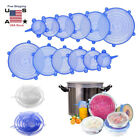 Kyпить 12pcs Stretch Reusable Silicone Bowl Food Storage Wraps Cover Seal Fresh Lids US на еВаy.соm