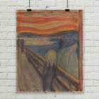 Edvard Munch Scream High Resolution Giclee' Art Print Poster Canvas Large