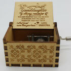 Hand Crank Wooden Engraved Music Box Christmas Gift For Kids Granddaughter