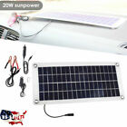 Outdoor 20W Car Boat Yacht Solar Panel Trickle Battery Charger Power Supply NEW