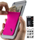 Pink/Black Hand Phone Wallet Case - Adhesive Card Holder for Smartphone & - on -