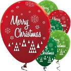 25pk Green & Red & Lime Merry Christmas Festive 12inch Latex Balloons