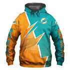 Miami Dolphins Hoodie Hooded Pullover Sweatshirt S-5XL Football Team Fan's Gifts $29.44 USD on eBay