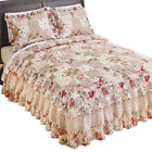 Rose Garden Quilt-Style Ruffled Bedspread image