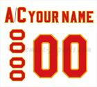 Atlanta Flames Customized Number Kit for 1972 1980 White Jersey