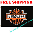 Harley Davidson Motorcycle Logo Flag Banner 3x5 ft Garage Show Wall Decor Sign $13.95 USD on eBay