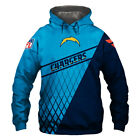 Los Angeles Chargers Hoodie Hooded Pullover Sweatshirt S-5XL Football Team Fans $29.44 USD on eBay