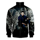 Supernatural SPN Jacket Men Women 3D Harajuku Stand Collar Zipper Streetwear