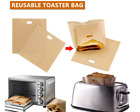Reusable Toaster Toastie Sandwich Toast Bags Pockets Toasty Non Stick