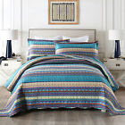 3Pc Quilt Bedspread Sets Bedding Coverlet Bedroom Floral Queen King Size, BY011 image
