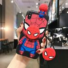 Marvel Iron Man KT Strap Holder Case fr iPhone 11 Pro XS Max Disney Minnie Cover