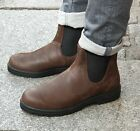 BLUNDSTONE Schuh Braun 1609 Antique Brown Original Herren Echtleder Chelsea Boot