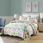 3Pc Quilt Bedspread Sets Bedding Coverlet Bedroom Floral Queen King Size, A96 image