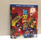 Teen Titans Go vs Teen Titans Animated Movie Dust Jacket Only (No Movie)