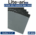Strong Grey Mailing Post Mail Postal Bags Poly Postage Self Seal 6