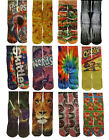 Fun Crazy Mid Crew Socks Mens Womens Adult Youth Fits Sizes 5-12  Over 60 Design