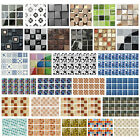 18/19pcs Kitchen Tile Stickers Bathroom Mosaic Sticker Self-adhesive Wall Decor