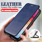For Samsung Galaxy A8 2018 A5 2017 Magnetic Flip Leather Wallet Stand Case Cover