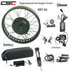 E bike Conversion Kit With Battery 48V 20 24 26 Inch Electric Fat Tire 1500W