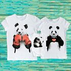 Panda bear daddy mommy baby bodysuit Panda family T-Shirts Matching shirts