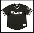 NEW MITCHELL & NESS SCRIP Oakland Raiders Black MESH V Neck JERSEY NFL $79.99 USD on eBay