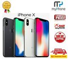 As New Apple Iphone X 10 64gb / 256gb Space Grey / Silver Unlocked [au Seller]