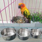Stainless Steel Pet Hanging Bowl Feeding Cage Cup Cat-Bird-Parrot-Food-Water Q~#