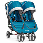 Baby Jogger City Mini Double Stroller - Teal/Grey - New! Ships Free!!!
