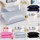 Mulberry Satin Silk Pillowcase Luxurious Standard Queen King Home Bedding Cover image