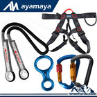 Outdoor Auto Screw Carabiner Locking Safety Climbing Harness Rescue Prusik Cord