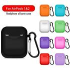 Silicone Case For Apple Airpods 2 Cover Protective Wireless Charging Box Holder