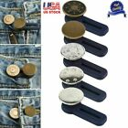 5x Adjustable Jeans Retractable Button Detachable Extended Button For Pants Us