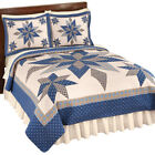 Collections Etc Reversible Navy Star Patchwork Quilt NAVY KING image