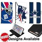 American Football Sports Team PU Leather Wallet Stand Case for Apple iPhone 11 $16.19 USD on eBay