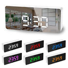 Alarm Clock Large Digital LED Electric Table Snooze USB Display Thermomete Clock