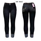 Women's NEW Denim Style Jeggings w/Front+Back Pockets Ankle/Bermuda/Capri Lenght