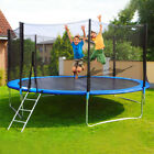 ROUND 10FT TRAMPOLINE FRAME SAFETY ENCLOSURE SPRING PAD JUMPING MAT COVER image
