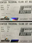2 Daytona NASCAR 300 race tickets Saturday Feb 15, 2020 - sec 352 - row 12