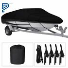 Waterproof Heavy Duty Boat Cover Trailerable Fishing Ski Bass V-Hull Runabouts image