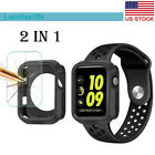 For Apple Watch Series 5 4 3 40/44mm Silicone Bumper Case With Screen Protector image