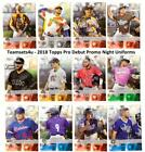 2018 Topps Pro Debut Promo Night Uniforms ** Pick Your Team ** See Checklist on Ebay