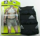 Adidas Mens Boxer Briefs 3 Pack M L Black Athletic Fit Performance Climalite New