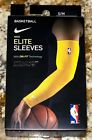 NIKE NBA Elite Compression Golden Yellow Basketball Shooting Sleeves Mens S / M