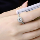 QUICK SALE 14K White Gold Pave LC Moissanite Engagement Ring