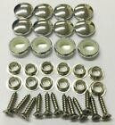 25 Dura Snap Upholstery Buttons Chrome Vinyl Choice Of Size And Screws