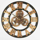 Large Retro Rustic Oversized 3D Decorative Luxury Wall Clock Gear Vintage Gift